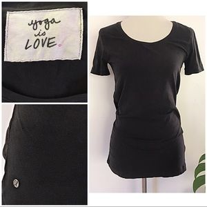 Lululemon Yoga is Love Tag Fitted Crew T-Shirt